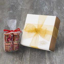 4 Hot & Spicy Italian Pâté Gift Box Inc. Chilli Pepper Cream & Spreadable Nduja Salami