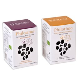 Premium Greek Organic Raisin Set Inc. Blackcurrants & Sultanas 2 x 200g