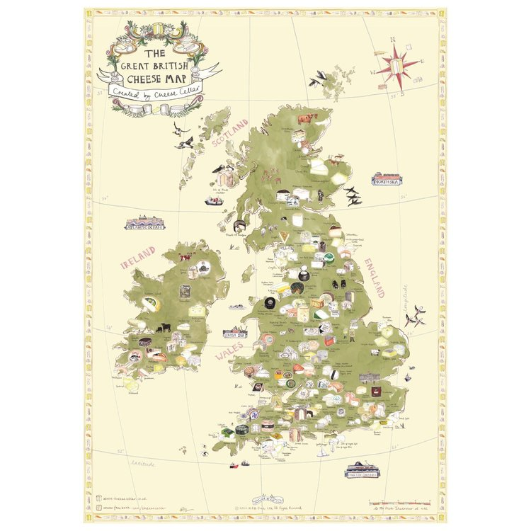 The Great British Cheese Poster Map (A1 Size)