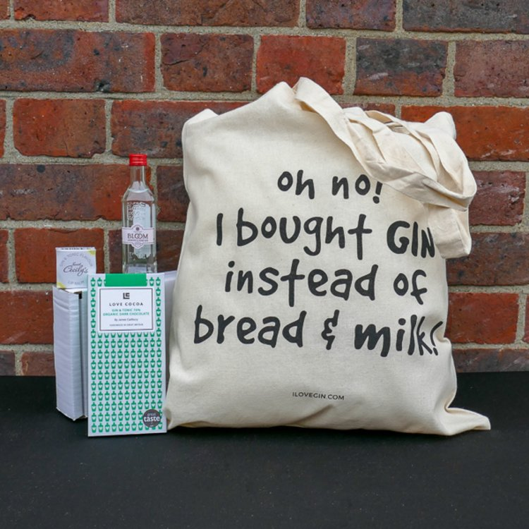 The Letterbox Gin Lovers' G&T Gift Set Inc. Tote Bag & Chocolate Bar