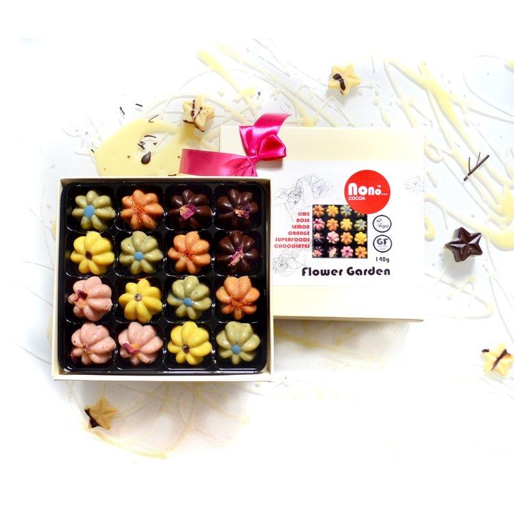'Flower Garden' Superfood Vegan Chocolate Truffle Gift Box
