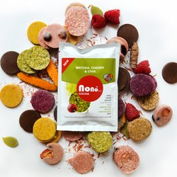 3 x 'Nono Cocoa' Matcha & Sour Cherry Vegan Chocolate Snack Pack (3 x 30g)