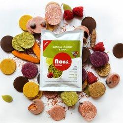 3 x 'Nono Cocoa' Matcha & Sour Cherry Vegan Chocolate Snack Pack (3 x 30g)