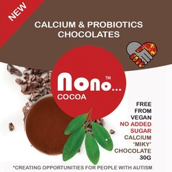 3 x 'Nono Cocoa Milk Chocolate' Vegan Snack Pack (3 x 30g)