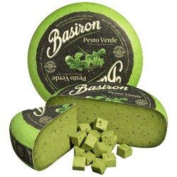 Green Pesto Cheese by Basiron (Cows' Milk) 225g