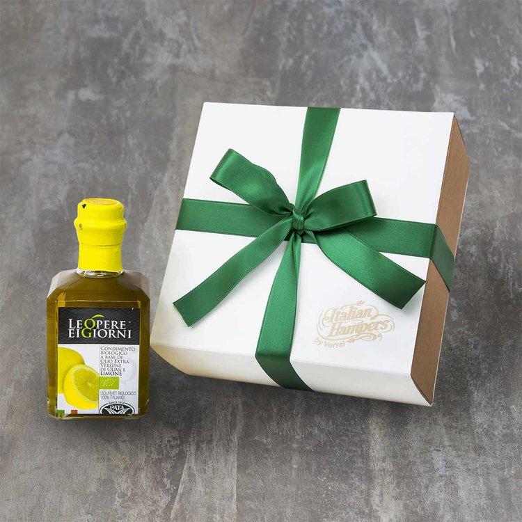Organic Lemon Infused Extra Virgin Olive Oil Gift Box