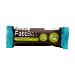 Coconut & Macadamia Nut Snack Bar with Chicory Extract 30g
