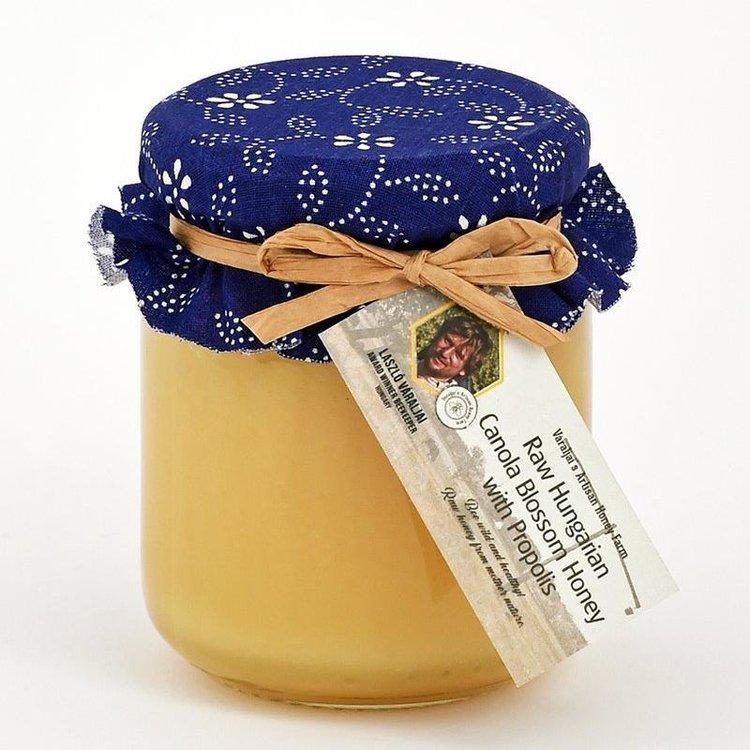 Raw Hungarian Canola Blossom Honey with Propolis 250g