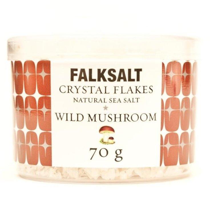 Falksalt natural wild mushroom sea salt crystal flakes 70g