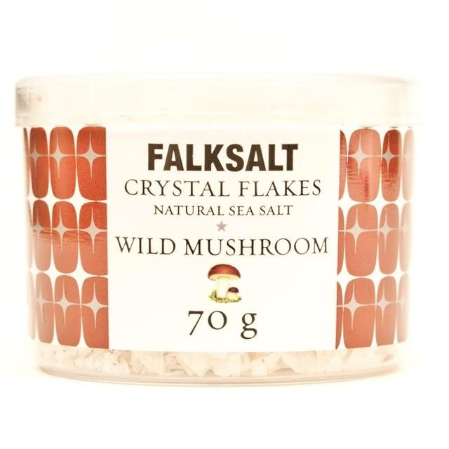 Natural Wild Mushroom Sea Salt Crystal Flakes 70g