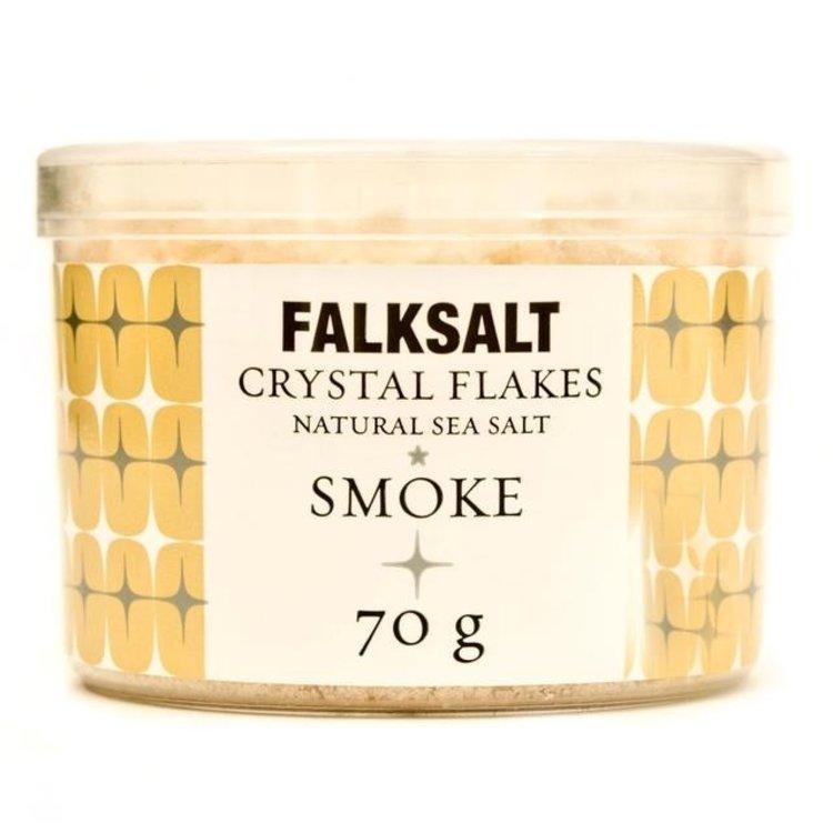Falksalt natural smoke sea salt crystal flakes 70g