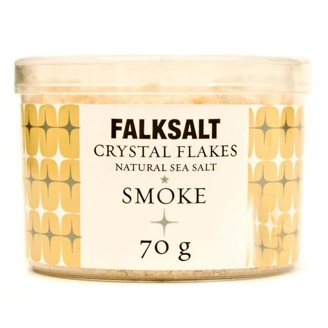 Natural Smoke Sea Salt Crystal Flakes 70g