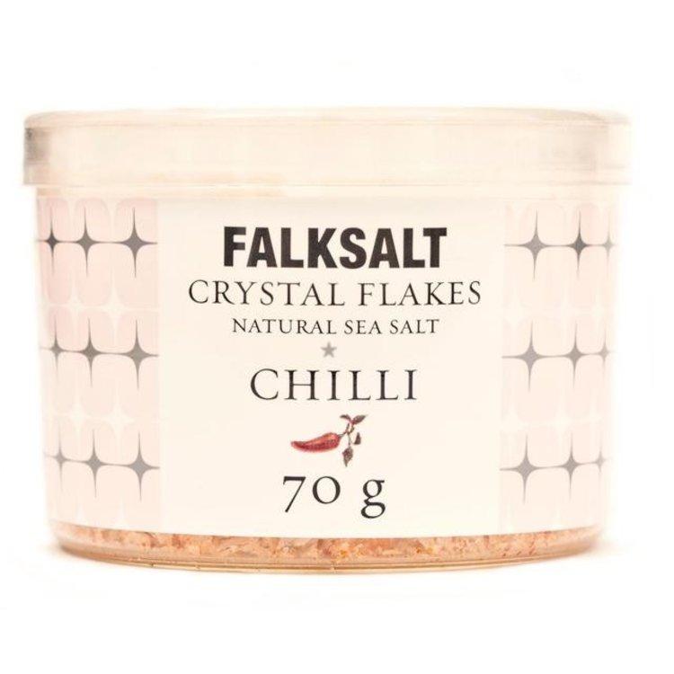 Falksalt natural chilli sea salt crystal flakes 70g