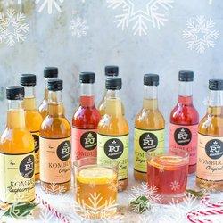24 Mixed Kombucha Fermented Drinks Party Set Inc. Ginger & Lime, Orange Hibiscus, Lemonade & Original