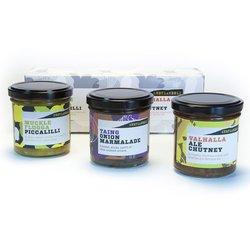 Shetland Chutney Gift Box with Piccalilli, Onion Marmalade & 'Valhalla' Shetland Ale Chutney