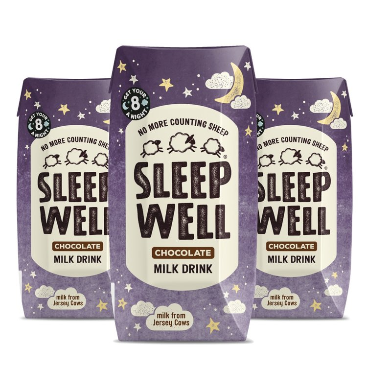 3 x 'Sleep Well' Chocolate Jersey Milk with Valerian Root 200ml