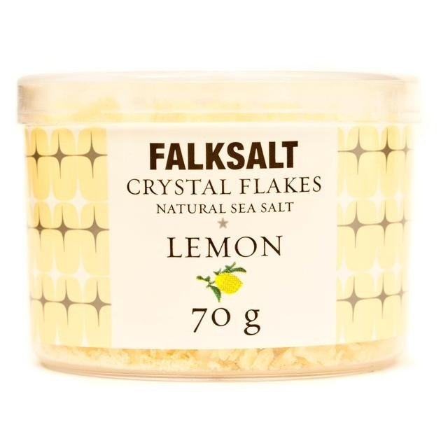 Natural Lemon Sea Salt Crystal Flakes 70g