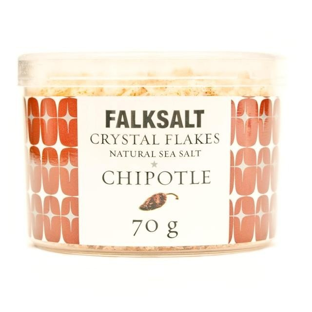 Natural Chipotle Sea Salt Crystal Flakes 70g