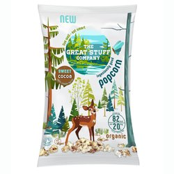 10 Packs 'Sweet' Cocoa Organic Popcorn Snack with Maple Syrup (10 x 20g)
