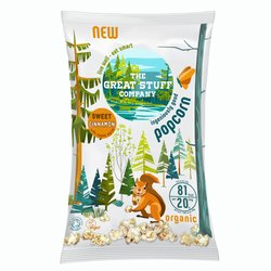 10 Packs 'Sweet' Cinnamon Organic Popcorn Snack with Maple Syrup (10 x 20g)