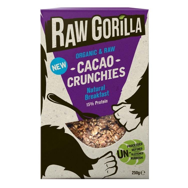 2 x Organic Cacao Natural Raw Breakfast Crunchies 250g