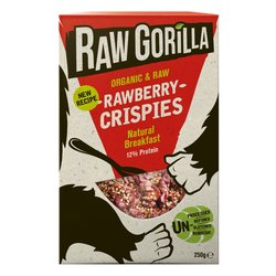2 x Organic Rawberry Natural Breakfast Crispies with Raspberries & Strawberries 250g