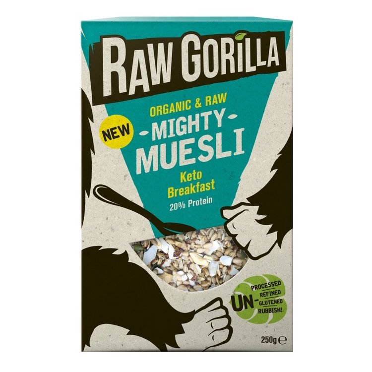 2 x Organic 'Mighty Muesli' Raw Keto Breakfast 250g