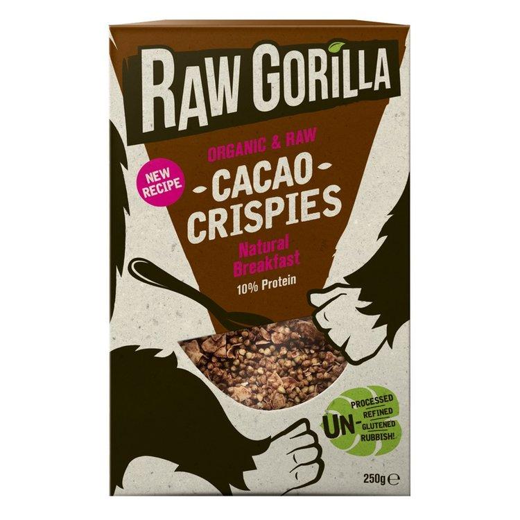 2 x Organic Raw Cacao Natural Breakfast Crispies 250g