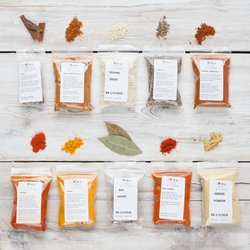 10 Moroccan Spice Collection Set Inc. Ras El Hanout, Baharat, Chilli Powder & Paprika