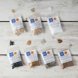 7 Halen Mon Flavoured Sea Salts Collection Set Inc. Charcoal, Pure, Smoked & Chilli Salts