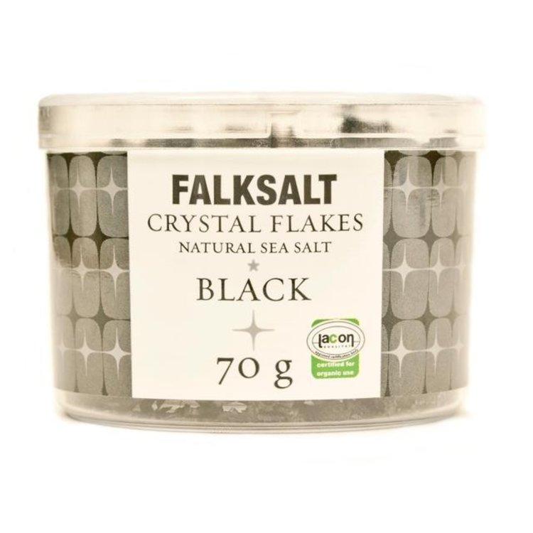 Falksalt natural black sea salt crystal flakes 70g