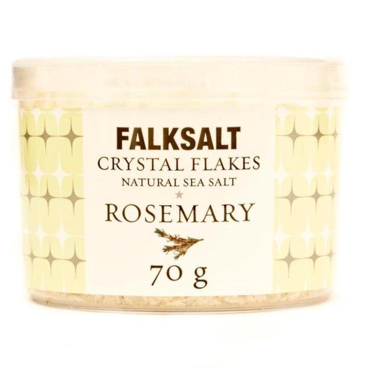 Falksalt natural rosemary sea salt crystal flakes 70g