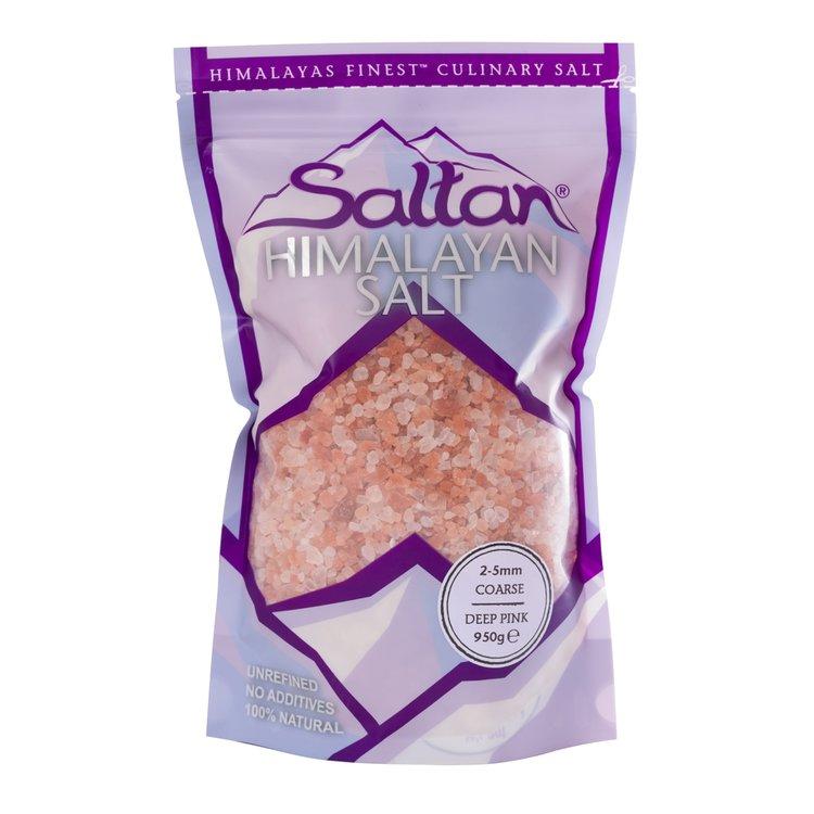 Premium Coarse Himalayan Deep Pink Salt 2-5mm 950g