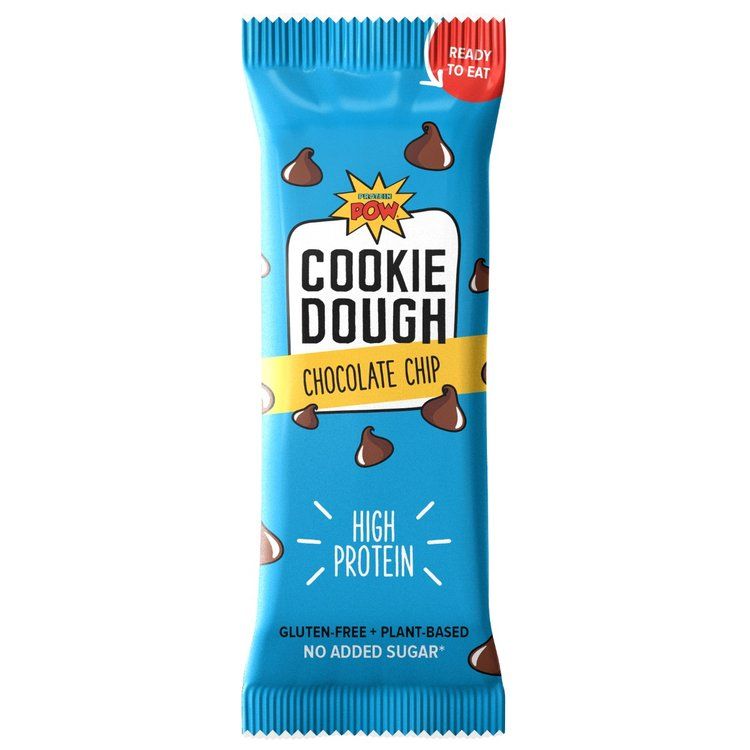 Box of 8 Chocolate Chip High Protein Cookie Dough Bars - Ready To Eat or Bake (Gluten Free)