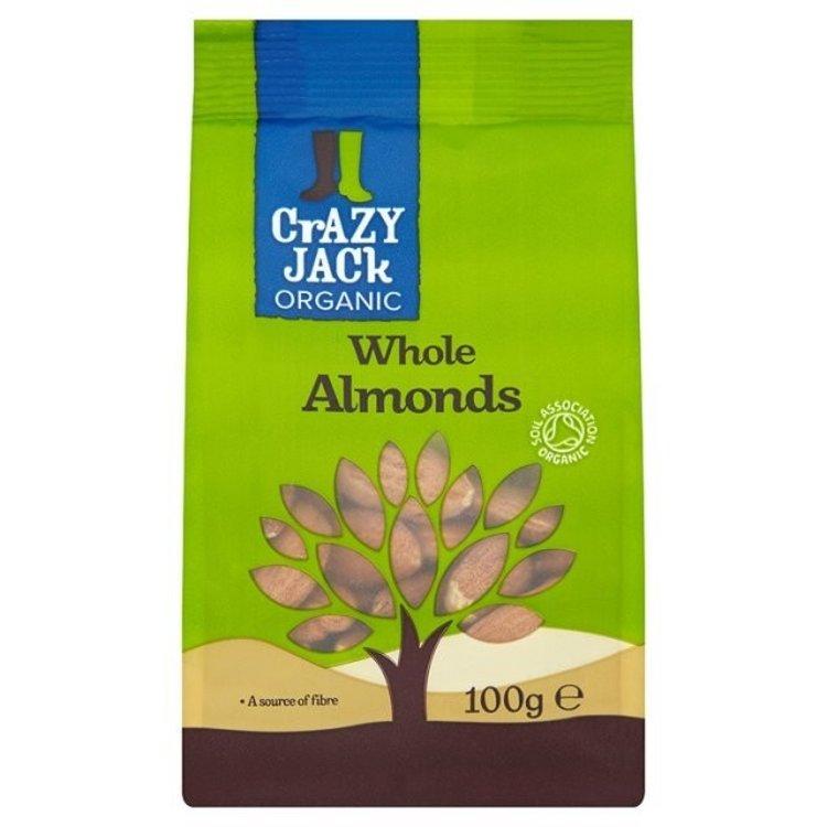 Crazy jack organic whole almonds 100g