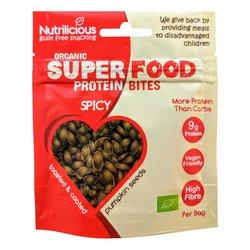 12 x Organic Spicy Pumpkin Seed Protein Bites Snacks (12 x 30g)