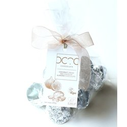 Coconut Cream Filled Fig Bonbons Coated in Almond Chocolate Gift Bag 250g (Vegan)
