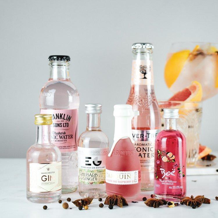 Pink Gin & Tonic Gift Set Inc. Tarquin, Boe & Edinburgh Gins
