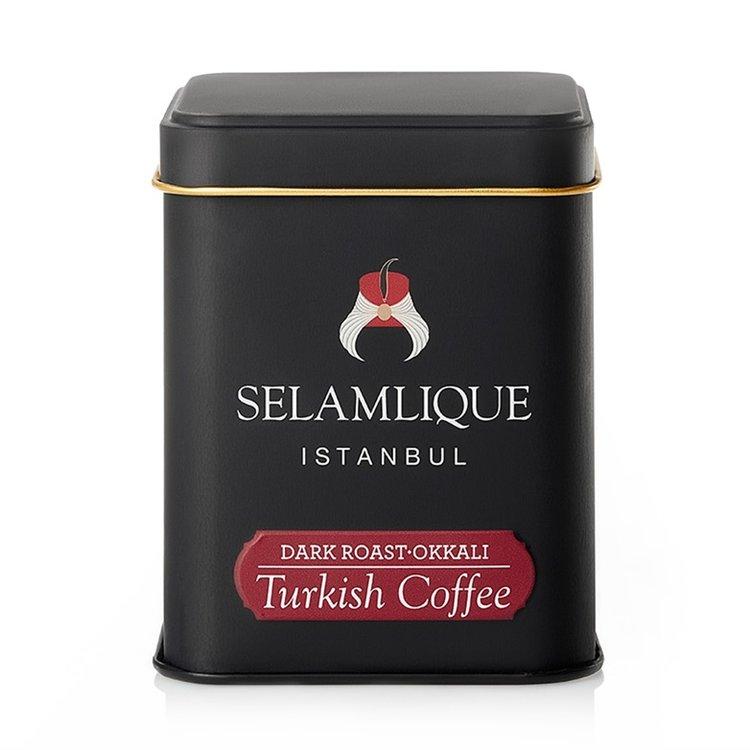 Dark Roast Turkish Ground Arabica Coffee in Tin 125g