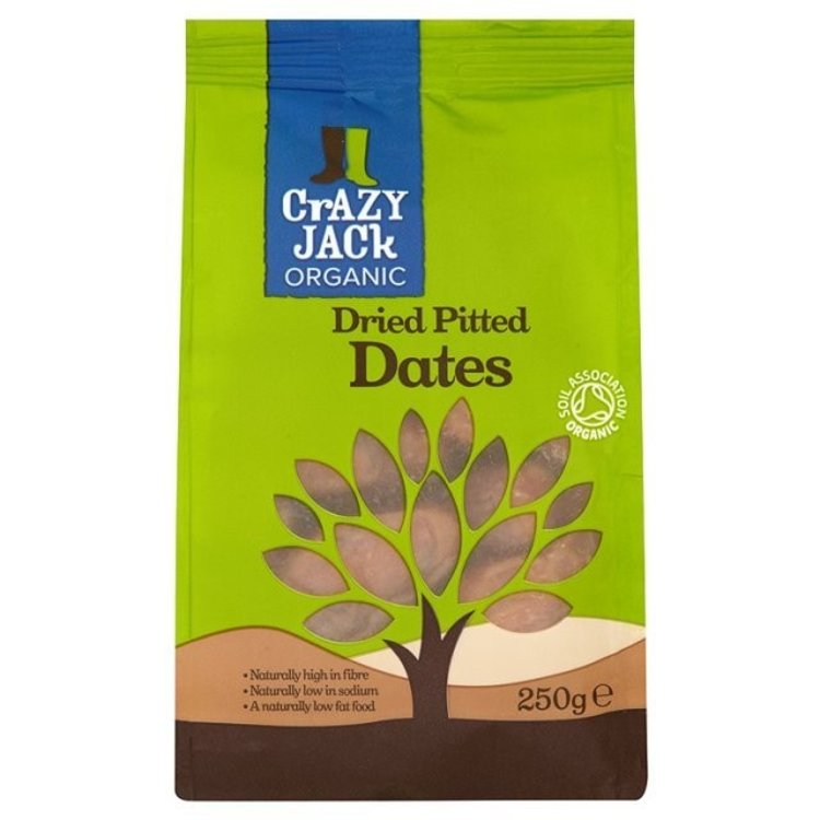 Crazy jack organic dried pitted dates 250g