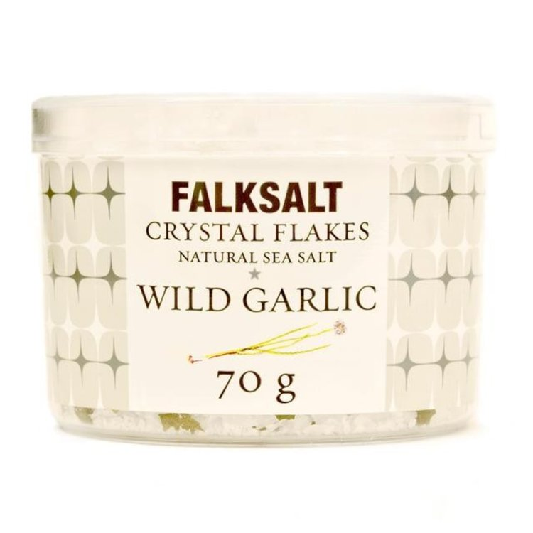 Falksalt natural wild garlic sea salt crystal flakes 70g