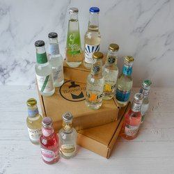 12 Tonic Water & Mixers Tasting Gift Set For Cocktails & G&Ts Inc. Fever-Tree, Fentimans & Luscombe