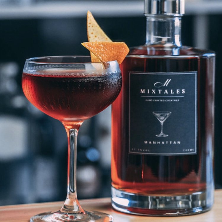 Manhattan Pre-Mixed Cocktail With Rye Whiskey 700ml