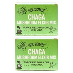 Instant Chaga Mushroom Elixir Organic Drink Mix by Four Sigmatic 20 Sachets