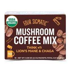 Organic Mushroom Coffee by Four Sigmatic with Lions Mane & Chaga 10 Sachets