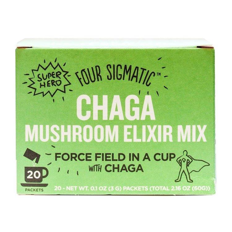 Instant Chaga Mushroom Elixir Organic Drink Mix by Four Sigmatic 20 Sachets