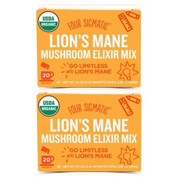 2 x Instant Lion's Mane Mushroom Elixir Organic Drink Mix by Four Sigmatic 20 Sachets