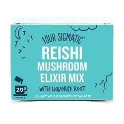 Instant Reishi Mushroom Elixir Organic Drink Mix with Liquorice Root by Four Sigmatic 20 Sachets