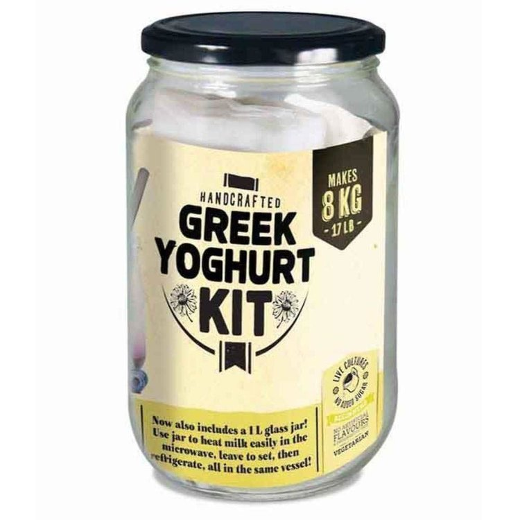 Make Your Own Greek Yoghurt Gift Kit (Makes Greek, Soy Yoghurts & Labna)