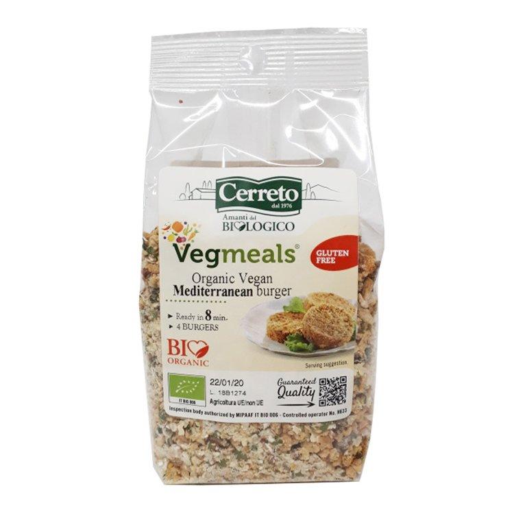 Organic Mediterranean Vegan Burger Mix with Soya, Quinoa & Tomatoes 160g (Makes 4 Burgers)